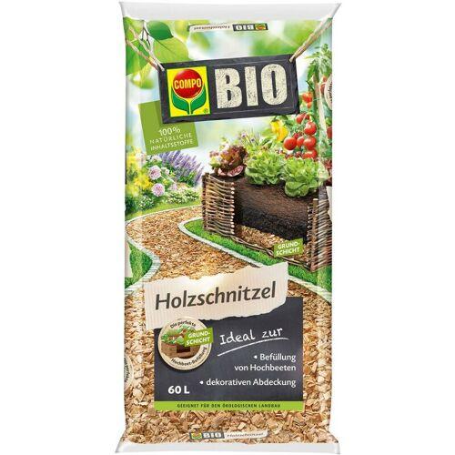 COMPO BIO Holzschnitzel 60 Liter, für Hochbeete oder Mulchmaterial, organisch