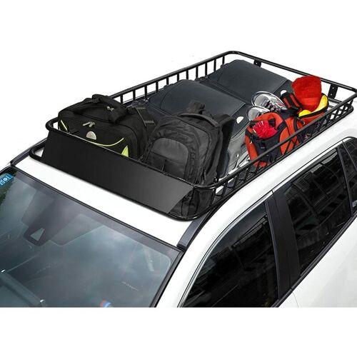 COSTWAY Universal Dachkorb aus Stahl, Auto Dachgepaecktraeger bis 113kg