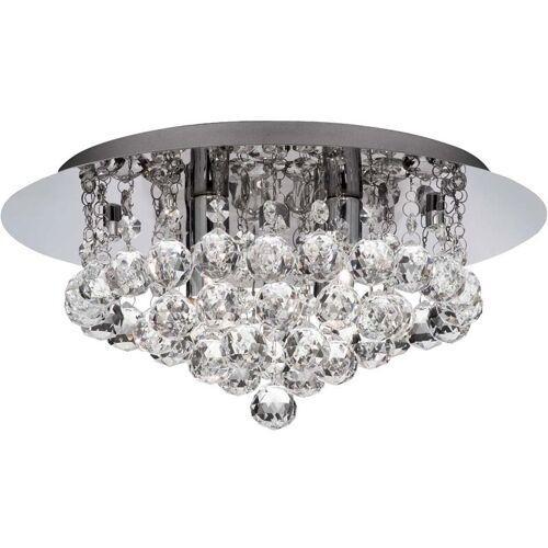 Etc-shop - Deckenleuchte Kristall Wohnzimmer Deckenlampe modern silber,