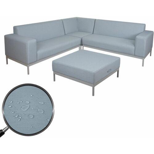 HHG Ecksofa HHG-5+1, Sofa Loungesofa Couch, Stoff/Textil Indoor