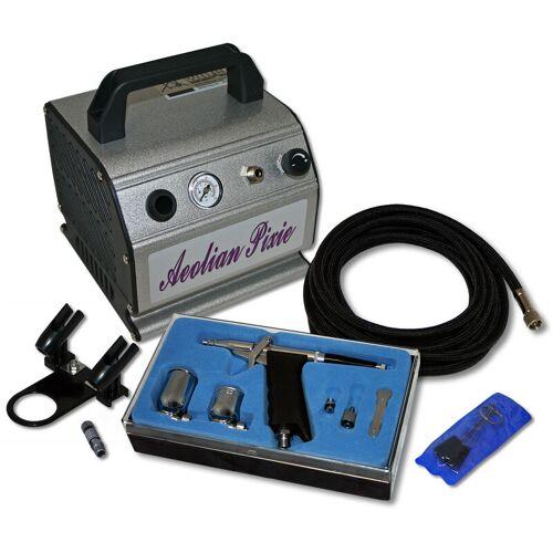 Wiltec - Einsteiger Airbrush Kompressor Set mit AS176 1 Airbrushpistole