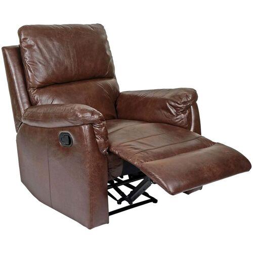 HHG Fernsehsessel HHG-525, Relaxsessel Liege Sessel ~ Stoff/Textil