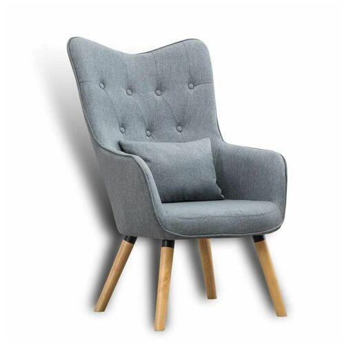 ESTEXO Fernsehsessel Relaxsessel Sessel mit Kissen Lese Stoff Polsterstuhl