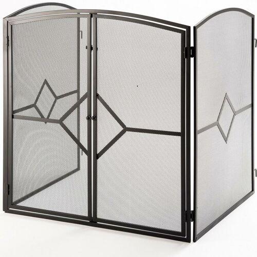 CRANNOG Feuerschirm Kamin Gitter Kaminfunkenschutzgitter Schutzgitter