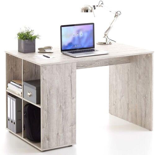 Zqyrlar - FMD Schreibtisch mit Regal 117×73×75 cm Sandeiche
