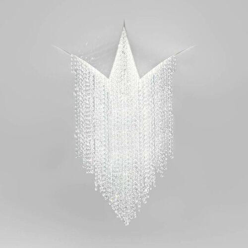 14-kolarz - FONTE DI LUCE mattweiße Kristalldeckenleuchte 1 Leuchte