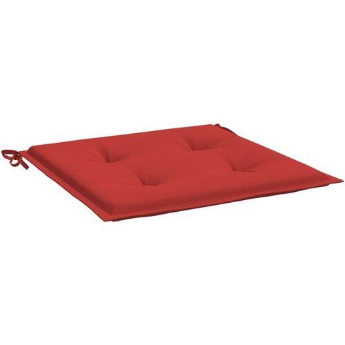 VIDAXL Gartenstuhl-Sitzkissen 6 Stk. Rot 50x50x4 cm Stoff