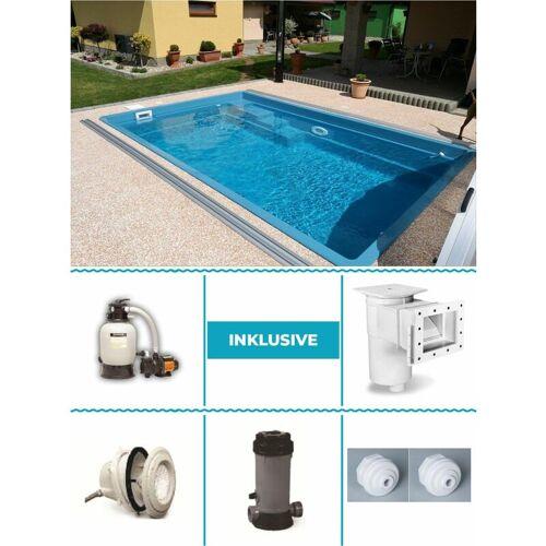 Poolprofi Nordhessen - GFK Pool Set Smart 3,00m x 4,60m x 1,20m