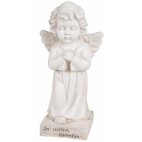 BURI Grab-Spruchstein stehender Engel 56cm Schutzengel Grabschmuck Figur