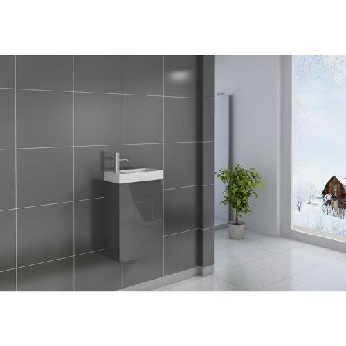 SAM Gäste-WC Waschbecken 40 x 22 cm grau Vega