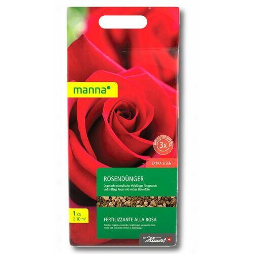 Manna Rosendünger 1 kg Blumendünger Blütendünger Beetdünger Balkondünger
