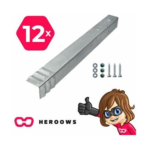 HEROOWS Bodenanker Erdanker Winkelanker-Set Mega Tight Duo 12 Stk. für