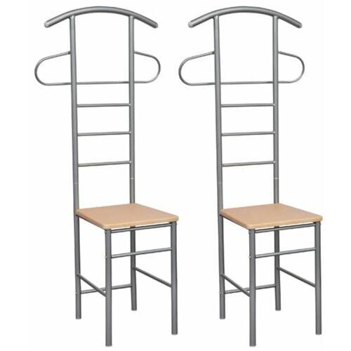 TOPDEAL Herrendiener Stuhl (2 Stück) Stummer Diener 30953