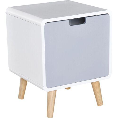 HOMCOM ® Nachttisch Nachtkommode Schlafzimmer MDF weiß L40 x B38 x H50cm