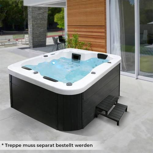 Home Deluxe - Outdoor Whirlpool White Marble I Jacuzzi, Außenpool, Spa