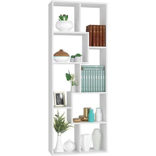 Homfa 160cm Bücherregal Regal Raumteiler Standregal Raumtrenner