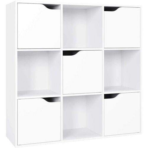 Homfa Bücherregal Raumteiler Raumtrenner Kinderregal Standregal