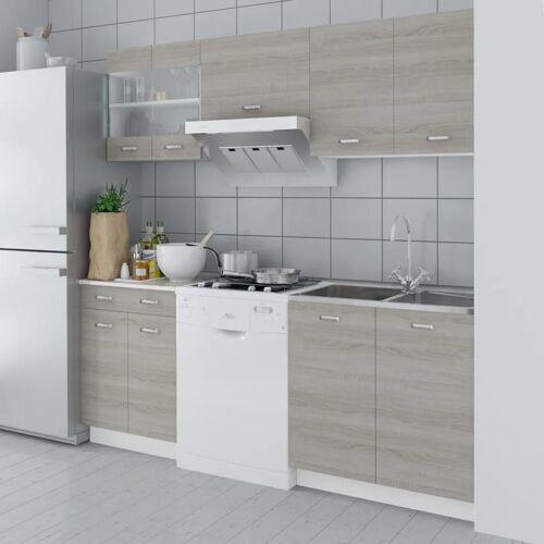 HOMMOO Küchenzeile 5-tlg. Eichen-Look 200 cm VD08731 - Hommoo