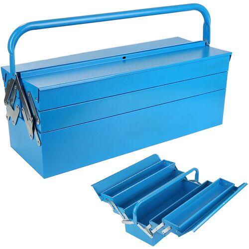 Wyctin - Metall Werkzeugkasten Werkzeugkoffer blau Werkzeug-Kiste Koffer
