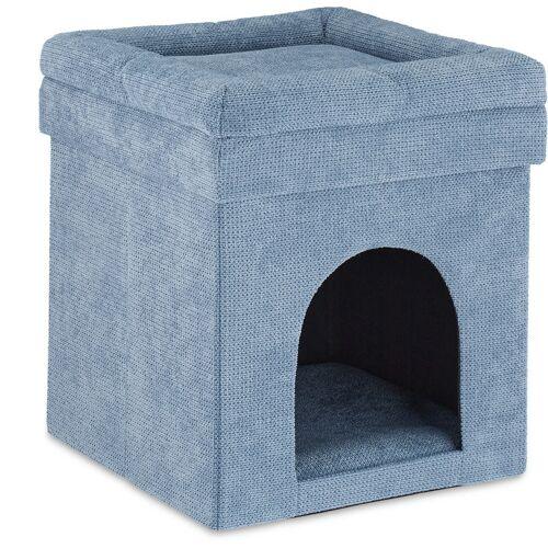 RELAXDAYS Katzenhöhle Hocker, Versteck für Katzen & kleine Hunde, Kissen,