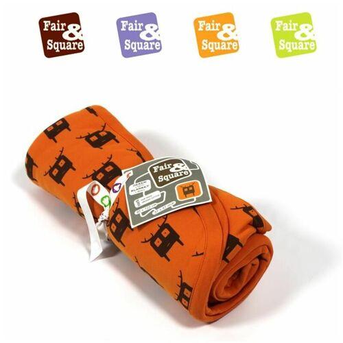 FAIR & SQUARE Kinder Bett-Decke Baby Decke Kinderbettdecke Kuscheldecke Bio Fair