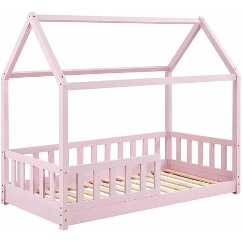 Artlife - Juskys Kinderbett Marli 80 x 160 cm mit Rausfallschutz,