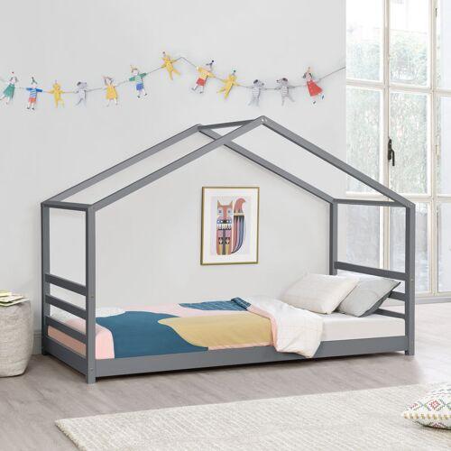 [en.casa] - Kinderbett Vardø 90x200 cm mit Lattenrost und Gitter