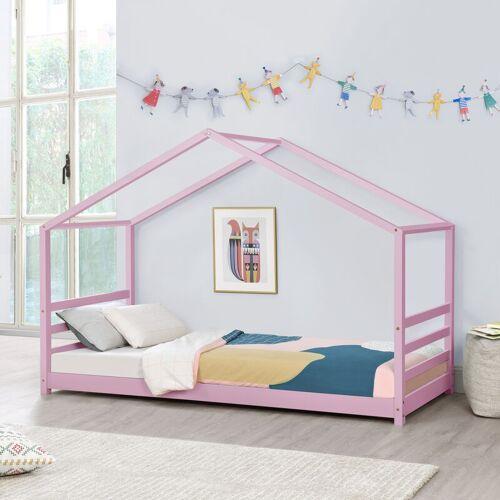 [en.casa] - Kinderbett Vardø 90x200 cm Rosa