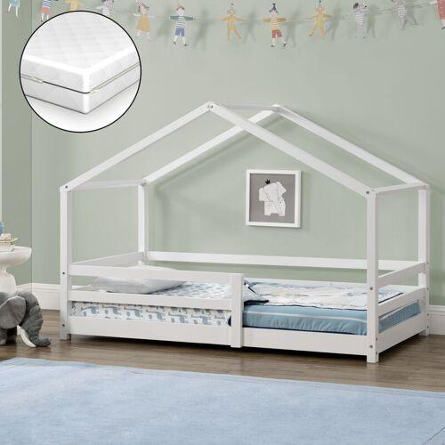 [en.casa] - Kinderbett Knätten 80x160 cm mit Rausfallschutz +