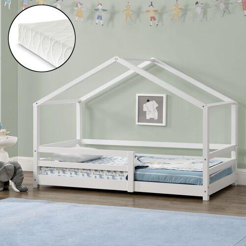 [en.casa] - Kinderbett Knätten 90x200 cm mit Rausfallschutz +