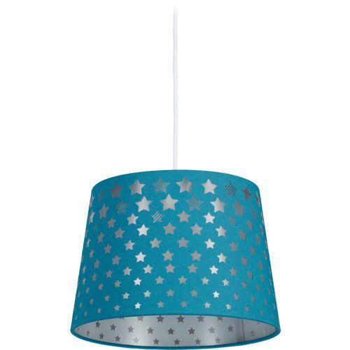 RELAXDAYS Kinderzimmerlampe Sterne, hängende Kinderlampe für Jungen, E27 Fassung,