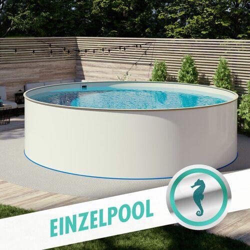 Hobby Pool - Pool Ø 3,50 x 1,35 m Folie sand 0,8mm EB, Stahl 0,7mm
