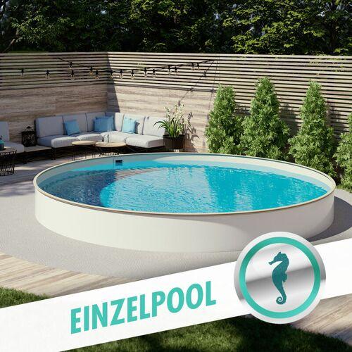 Hobby Pool - Pool Ø 5,00 x 1,50 m Folie sand 0,8mm EB, Stahl 0,7mm