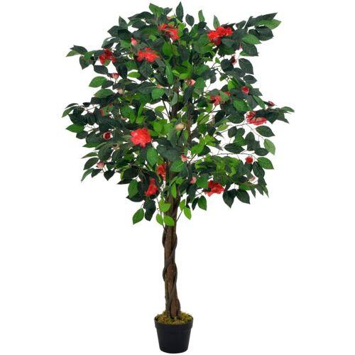 Zqyrlar - Künstliche Pflanze Kamelie mit Topf Grün 125 cm