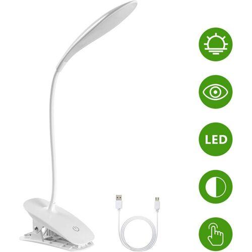 BEARSU LED-Schreibtischlampe, USB-Schreibtischlampe, Bürolampe, LED-Leselampe,
