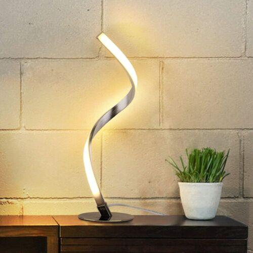 Bares - LED Tischlampe Dimmbar - Moderne Spiral Tischleuchte, Touch