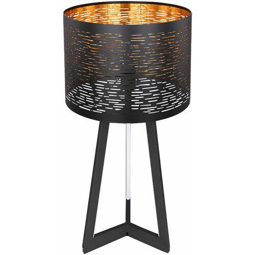 ETC-SHOP Tischleuchte Schwarz Tischlampe Gold Beistelltisch Nachttischlampe mit