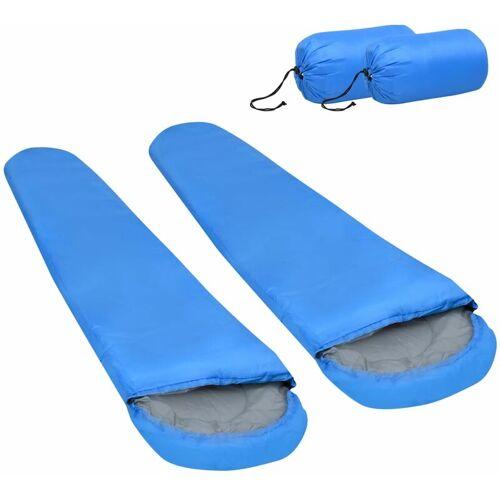 VIDAXL Leichte Schlafsäcke 2 Stk. Blau 15? 850g