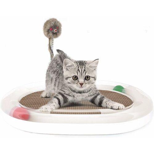 LITZEE Katzenspielzeug Katzenspielzeug aus Pappe Lounge Katzenspielzeug mit