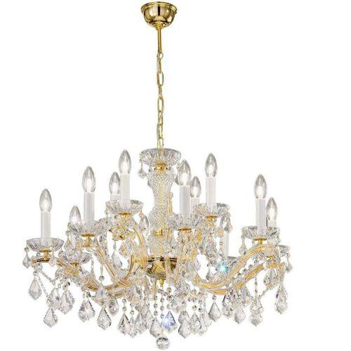 14-kolarz - MARIA LOUISE Kristallleuchter 24 Karat Gold 12 Glühbirnen