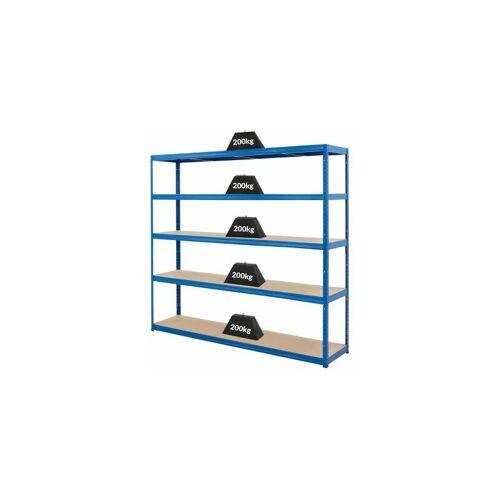 CERTEO Mega Deal   4x Schwerlastregal – Tiefe 45 cm und 1x Werkbank