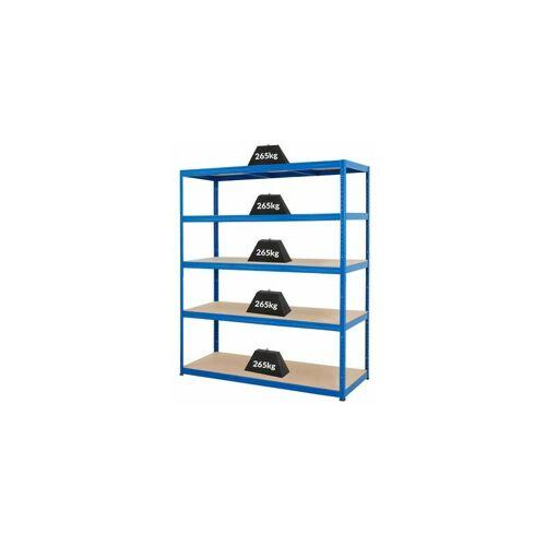 Certeo - Mega Deal   5x Schwerlastregal - Tiefe 60 cm und 1x Werkbank
