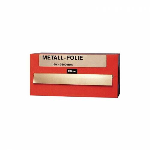 Metallfolie Dicke 0,1mm MS63 L.2500mm B.150mm
