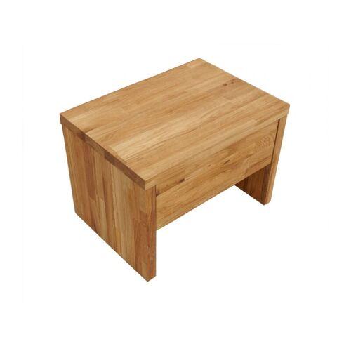 SAM Nachttisch 50 x 36 cm Massivholz Wildeiche parkett BEN 2