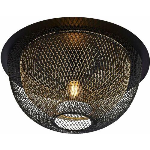 03-SEARCHLIGHT Nest Decken bee 1 Ampulle mit Mesh - außen schwarz mit Goldinnen