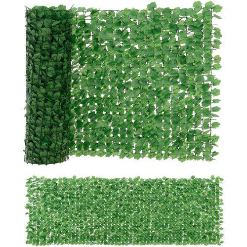 [NEU.HAUS] Blätter Zaun 300x150cm Grün Sichtschutz Windschutz Zaun Garten Balkon