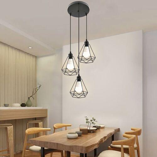 WYCTIN Pendelleuchte industrie Decke hängende Leuchte Kronleuchter E27 für