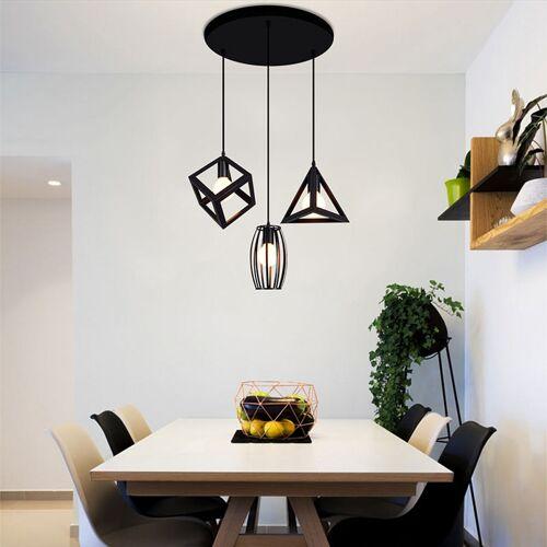 WYCTIN Pendelleuchte schwarz Hängelampe für Esszimmerlampe Wohnzimmer Lampe