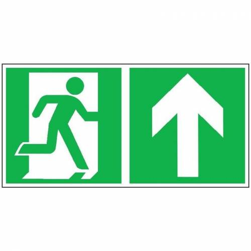 WOLK R-Schild, R-weg gerade re 40 x 20cm, Alu, nachleuchtend - Wolk