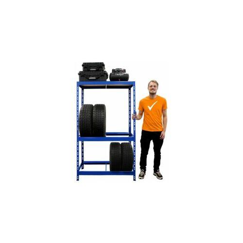 CERTEO Reifenregal   HxBxT 180 x 100 x 50 cm   Für bis zu 10 Reifen   Mit